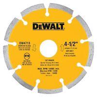 """Dewalt Accessories-Diamond Saw Blade, Dry Cutting, Segmented,4.5""""."""