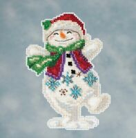 Mill Hill - Jim Shore - Snowman Dancing - Beaded Cross Stitch Kit - JS20-1613