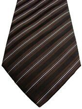 DOLCE & GABBANA D&G Mens Tie Brown Black & White Stripes NEW