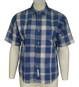 Levi's Dockers Blue Check Shirt Women's Size L Large UK 12