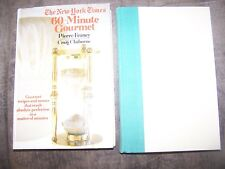 2 Cookbooks in Great Shape NY Times 60 Min Gourmet, The Frugal Gourmet MSRP $40
