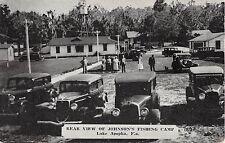 1930's Rear View Johnsons' Fishing Camp Lake Apopka FL rate card