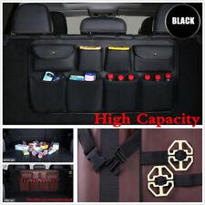 High Capacity Black PU Leather Car Seat Back Organizers Bag Interior Accessories