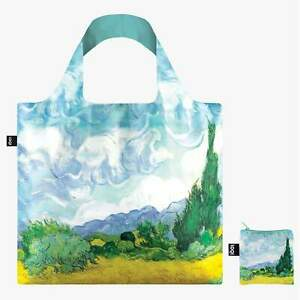 van Gogh Wheatfield with Cypresses LOQI Shopping Beach Travel Shoulder Gift Bag