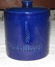 """Heath Mobilnet 6"""" Lidded Cobalt Blue Container"""