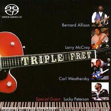 CD SACD HYBRID BLUES BERNARD ALLISON + LARRY McCRAY + CARL WEATHERBY TRIPLE FRET