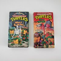 2 Ninja Turtles VHS TMNT - Attack of the Big Macc,  Heroes in a Half Shell