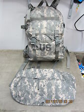 US ARMY ACU ASSAULT PACK w Stiffy & Waist Pack   Molle 3 Day  Excellent!!!!!