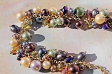 Leilani Necklace, 17� Free Ship! Premier Designs Gold plate Freshwater Pearl