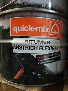 Quick Mix Bitumenanstrich Bitumenlack Grundierung Dickbeschichtung 5 Liter flex