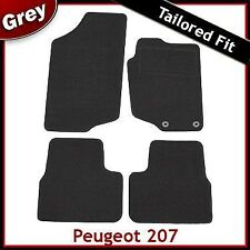 Peugeot 207 2006-2014 Fully Tailored Fitted Carpet Car Mats GREY