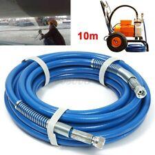 10m Airless Paint Spray Hose Tube Pipe 5000PSI 1/4'' Flexible Fiber For  P Q