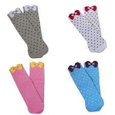 Girls Premium Seamless Bow Bamboo Socks 4 PACK Collection by Rambutan UK: 12.5-2