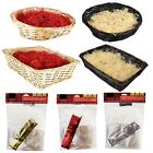 Large Christmas Hamper Kit Cellophane Bow Craft Basket Make Your Own Gift Box