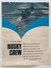 1970s University of Washington Huskies Crew Poster 75th Anniversary