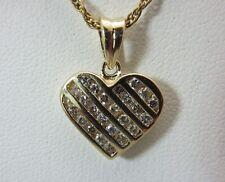 14K Yellow Gold 0.40 Carat Diamond Heart Pendant