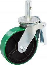 Casterhq 6 X 2 Scaffold Caster With Brake Polyurethane On Cast Iron Wheel