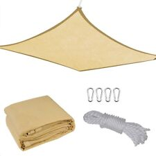 13'x10' Rectangle Sun Shade Sail Cover Outdoor Patio Canopy Shelter Desert Sand