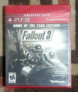 Fallout 3 -- Game of the Year Edition (Sony PlayStation 3, 2009) New & Sealed