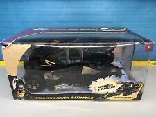 Used Mattel The Dark Knight Batman Stealth Launch Batmobile. Boxshows wear.