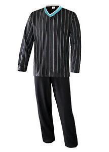 Herren Schlafanzug lang Pyjama Set Nachtwäsche Hausanzug KB Socken®