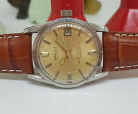 RARE USED VINTAGE CARAVELLE 666 FEET SILVER DIAL DATE AUTOMATIC MAN'S WATCH