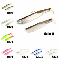 Silicone  fly fishing Crank Soft  bass Bait worm  Minnow Lure Lead Head hook