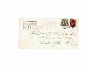 Canal Zone 1931 registered cover France Field to Washington, DC 78 106