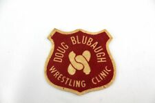 Vintage DOUG BLUBAUGH WRESTLING CLINIC Red Wool Felt Patch