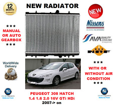 FOR PEUGEOT 308 HATCHBACK 1.4 1.6 2.0 16V GTi HDi 2007> RADIATOR OE QUALITY