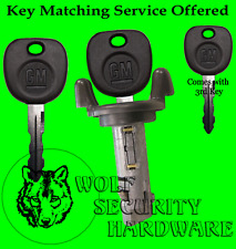 Escalade Bravada Hombre Ignition Key Switch Lock Cylinder Tumbler 3 GM Keys