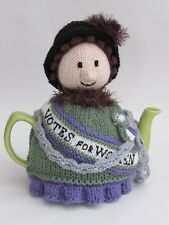 Votes For Women Suffragette Tea Cosy Knitting Pattern knit your own