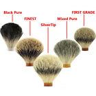 18-30mm Silvertip /Best Pure Black Badger Hair Knot DIY Wet Shaver Shaving Brush