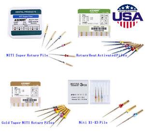 Dental NiTi Super Rotary/Heat Activated/Gold Taper/Niti X1-X3 File Engine Use