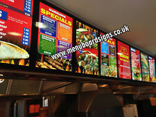 Led Menu Boards A2 Size for Takeaways & Restaurants including design & graphics