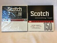 "2- 3M Scotch Recording Magnetic Tape  Double Length  7"" Reels"