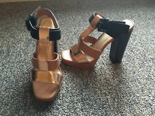 2b8f3ba49 Elizabeth and James Women s Sam T Strap High Heel Sandals US Size 8