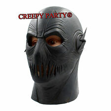 The Flash Allen Black Helmet Mask Halloween Cosplay Party Full Head Latex Mask