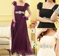 Evening Party Club Ball Gown Wedding Bridesmaid Dress UK Size 12 14 16 18 #2089
