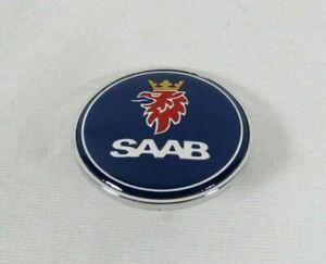 SAAB 900 9000 HOOD EMBLEM 79-02 FRONT BLUE/CHROME BADGE 93 sign symbol logo