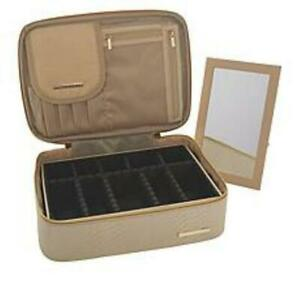 Marcy McKenna Ultimate Customizable Cosmetic Case -in Champagne