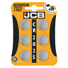 6 X JCB CR2025  3V Lithium Button Coin Cell Battery DL2025 BR2025
