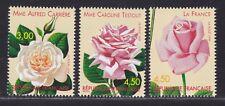 FRANCE N° 3248 à 3250 neufs ** MNH,fleurs, roses TB