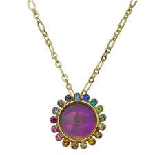 Kirks Folly Rainbow Memories Seaview Moon Necklace goldtone