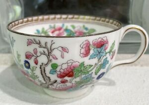 Royal Doulton Fine China Tea Cup  With Multi-colored Asian Floral Design