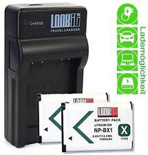 LOOKit  Lader + 2x LOOKit BX1 für Sony FDR-X3000R, Sony HX80, Sony RX100 IV