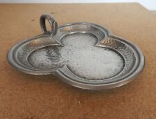Craftsman pewter Clover shaped Condiment set dish 14cm x14cm