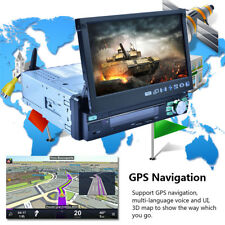 "7"" Automatic Retractable Car MP5 Player Android 6.0 GPS 3G WiFi AM FM RDS Screen"