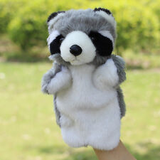 Super cute animal raccoon plush toy hand puppet baby toy telling story gift 1pc