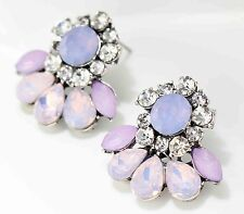 Bohemia design women gorgeous bib statement mixed crystal long Earrings 542